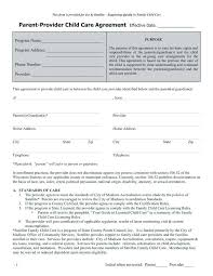 Daycare Contract Template Daycare Contract Template Fantastic Free Forms