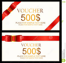 Gift Certificates For Your Business Gift Voucher Template For Your Business Vector Illustration Stock