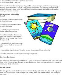 the seven card relationship spread 1 tells about you and your feelings in the relationship