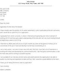 Online Job Cover Letter Oil Job Cover Letter Example Icover Org Uk