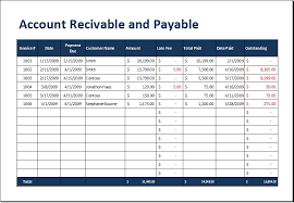 Accounts Receivable Templates Excel Account Receivable And Payable Aging Sheet Word Excel