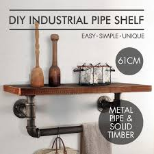 industrial style shelving. Wall Mounting Type Bathroom Shelf Industrial Style Metal Pipe Wood Kitchen Towel Rrackpipe Paper Shelving E