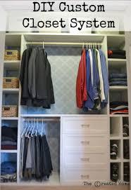 diy custom small closet system