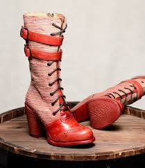 84 best vintage style shoes and boots images on pinterest Victorian Wedding Boots For Sale steampunk style mid calf leather red boots sold out Victorian Ladies Boots