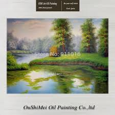 high quality handmade spring landscape paintings home decor canvas scenery painting hang paintings decor big size