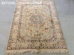 persian silk rug cleaned
