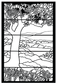 Stained Glass Coloring Page Designs Stained Glass Coloring Book