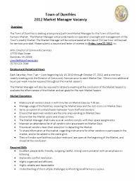 resume samples job description town of dumfries market manager job description town of dumfries