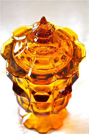 fenton valencia amber candy jar covered candy jar amber glass covered candy dish wedding candy table
