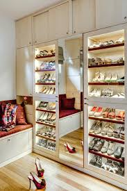 built in shoe rack in closet shoe bench storage kitchen eclectic with none