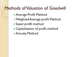 Valuation Of Goodwill Ppt Video Online Download