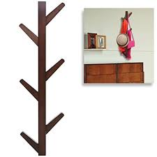 6 Hook Wall Mounted Coat Rack Amazon Modern Brown Bamboo Wall Mounted 100 Hook Hanging Storage 66
