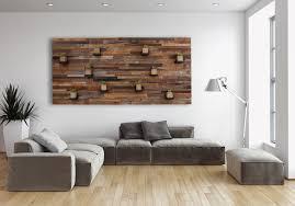 custom made wood wall art with floating wood shelves 84