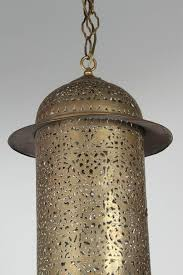 moorish vintage moroccan brass filigree pendant light fixture for