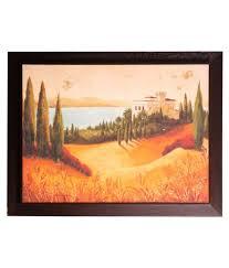 srikara frames yellow green acrylic desert canvas painting