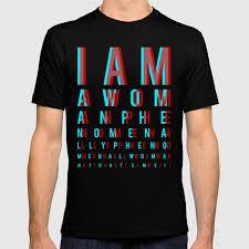 I Am A Woman Phenomenally Phenomenal Woman Thats Me Eye Chart T Shirt