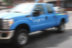 google fiber truck in kansas city