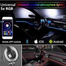 App Controlled Interior Car Lights Details About 5x Rgb Led Car Interior Atmosphere Bluetooth App Control El Neon Strip Light 6m