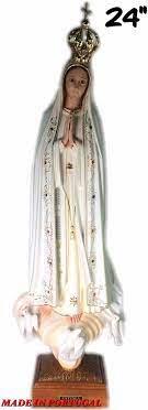 Amazon.com: Portugal 36 Inch Our Lady of Fatima Statue Religious Figurine  Virgin Mary #5455: Home & Kitchen