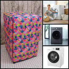 Vỏ bọc, áo trùm máy giặt cửa ngang ( Vải dù không nổ, chống thấm ) - mẫu  hoa cỏ mùa xuân chính hãng 180,000đ