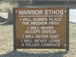 quotes about warrior ethos quotes