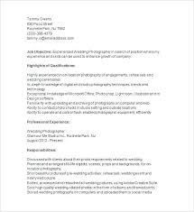 Photography Resume Template Kliqplan Com