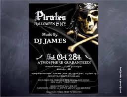 Pirate Halloween Party Costume Contest Flyer Digital Print Printable