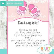 Unique Baby Shower Games Girl Baby Shoes Say Baby Game – impexmarine.co