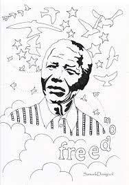 Nelson Mandela Coloring Page At Getcoloringscom Free Printable