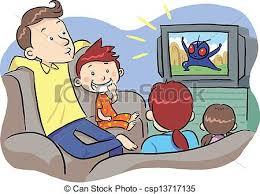 family watching tv clipart. vector - watching tv with family tv clipart t