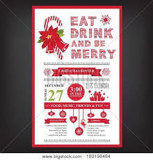 christmas dinner poster christmas restaurant and party menu invitation poster id 100198484