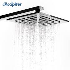 Us 472 41 Off12 Inch 30 Cm Stainless Steel Square Rain Shower Head 556 Holes Water Out Rainfall Showerheads Not Including Shower Arm In