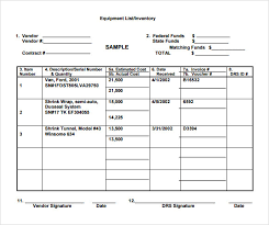 Sample Equipment Inventory Template 14 Free Download Documents In