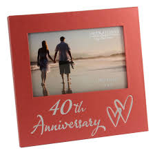 40th wedding anniversary gifts 40th ruby wedding anniversary gifts wooden frame