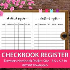 Wallet Size Check Register Free Printable – Stiropor Idea