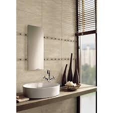 mosaic bathroom tiles. Wickes Sofia Beige Travertine Natural Stone Mosaic Border Tile - 300 X 40mm Bathroom Tiles