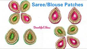 Designer Patches For Sarees Diy How To Make Silk Thread Designer Saree Blouse Patches Designer Blouse Patch Work Making At Home