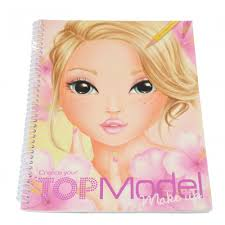 top model create your make up colouring sticker book
