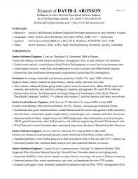 Experienced Resume Sample Resume Of Experienced Software Engineer software engineer resume 57