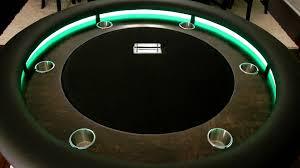 custom round lighted table