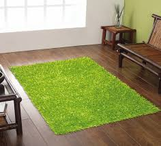 spider lime green rug