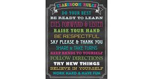 Chalkboard Brights Classroom Rules Chart Chalkboard Brights Classroom Rules Chart