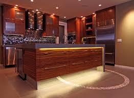 Kitchen Center Island Cabinets Kitchen Design Case Study Contemporary Kitchen With Zebra Wood