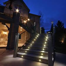 image of contemporary outdoor step lighting