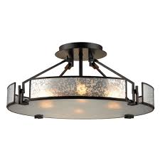 elk lighting mercury glass semi flushmount light oil rubbed bronze elk lighting 57091 4