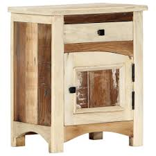 <b>Bedside Cabinet 40x30x50</b> Cm Solid Reclaimed Wood | Furniture ...