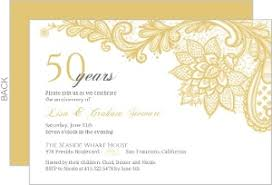 intricate gold lace anniversary invitation