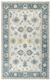 leone traditional motifs vines wool area rug in natural gray 10 x 14