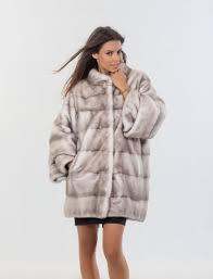 silver blue mink fur coat