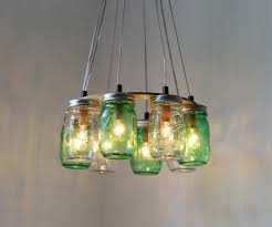 ... Large-size of Relaxing Clear And Green Ring Mason Jar Chandelier Green  Plus Clear Ring ...